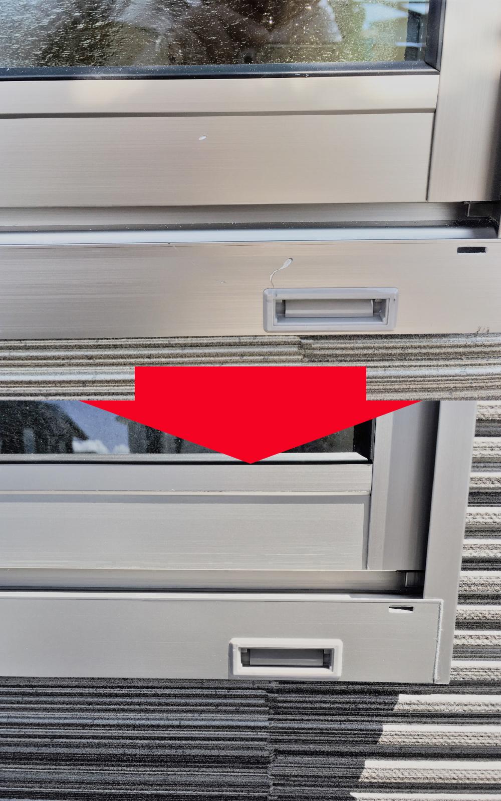 窓枠えぐれ傷のイメージ